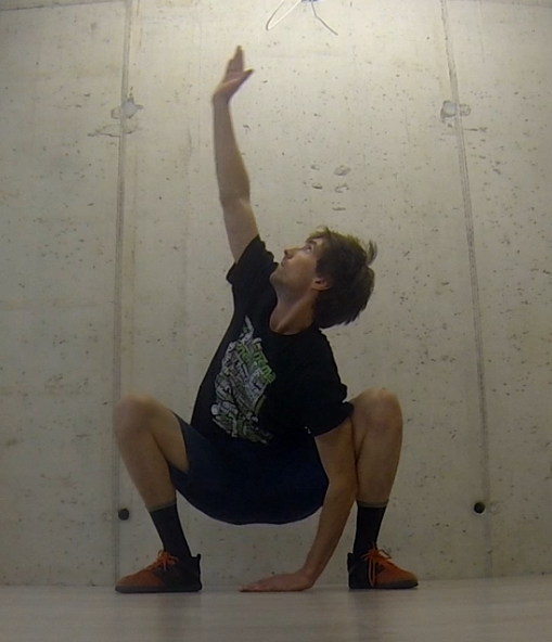 Overhead thoracic reach right-side